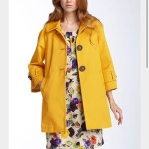 Kate Spade Sunshine Yellow Buttoned Peacoat